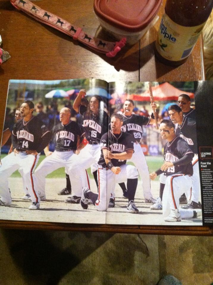 New Zealand Black Sox at page 7 of Sports Illustrated. (click to enlarge)